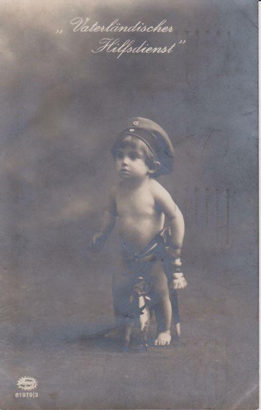 Ansichtskarte Kind als Soldat