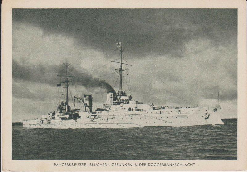 Ansichtskarte Panzerkreuzer Blücher Kriegsmarine WKII