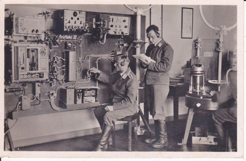 Ansichtskarte Funker Soldaten Technik Luftwaffe 1939