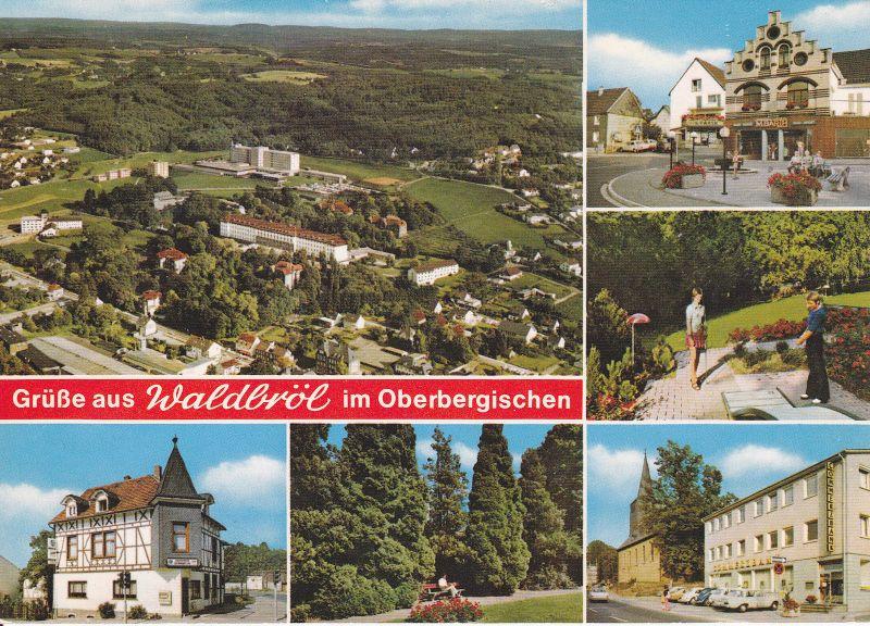 Ansichtskarte Waldbröl Oberbergisches Land Mehrbildkarte 1990