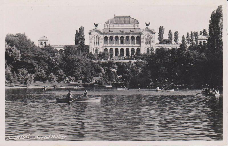 Ansichtskarte Bukarest / Bucuresti Muzeul Militar Militärmuseum Palatul Artelor Foto