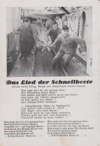 Ansichtskarte Liedpostkarte Das Lied der Schnellboote / Feldpost ca. 1940