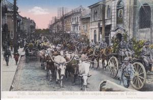 Ansichtskarte Erster Weltkrieg Einzug Soldaten Lublin / Kriegskarte