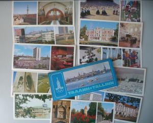 Set 11 Ansichtskarte Tallinn / Reval Estland Sowjetunion 1980