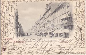 Ansichtskarte Karlsruhe Kaiserstraße 1897