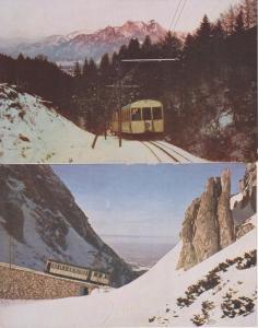 2 x Ansichtskarte Wendelsteinbahn Brannenburg Uvachrom-Karten ca. 1930