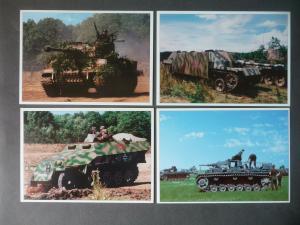4 Ansichtskarte Sammelkarten Panzer Panzerkampfwagen DMZ