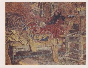 Ansichtskarte A. Golowin Fjodor Schaljapin als Holofernes / Kunstpostkarte Russland