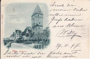 Ansichtskarte Ulm Metzgertor 1897