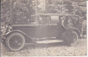 Orig. Foto Oldtimer mit offenem Verdeck ca. 1920 / Straßberg?