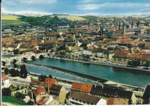 Ansichtskarte Würzburg Gesamtansicht Altstadt Main ca. 1970