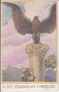 Ansichtskarte Kunstpostkarte VI. Slet Vsesokolsky Prag / Sokol Turnerbund Prag 1912