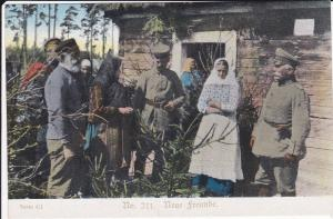 Ansichtskarte Erster Weltkrieg Soldaten Bevölkerung