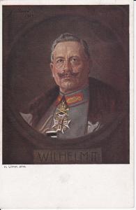 Ansichtskarte Porträt Kaiser Wilhelm II / H. Ulmer 1917