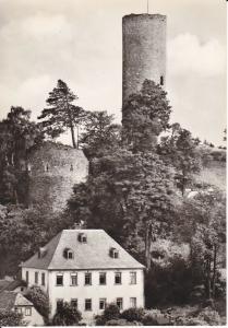 Ansichtskarte Bad Lobenstein Burg Turm Bergfried Foto 1977