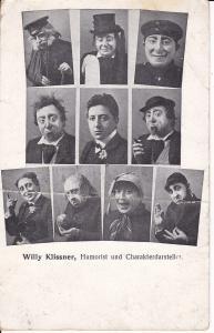 Ansichtskarte Porträt Willy Klissner Humorist Komödiant Schauspieler ca. 1910