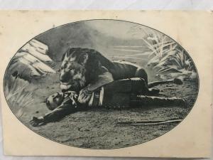 PK Soldat mit Löwe