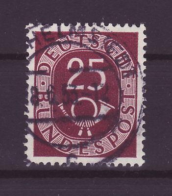 Bund Posthorn 25 Pfennig Vollstempel   b184