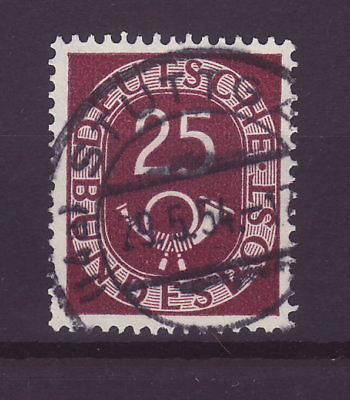 Bund Posthorn 25 Pfennig Vollstempel   b183