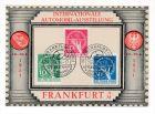 Berlin  Nr. 68-70 W�hrungsgesch�digte auf Ausstellungs Karte top  (p3588 ) siehe scan !