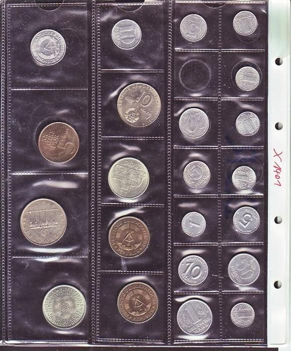 (x1401 )DDR Münzen Lot  22  xdiverse  /siehe scan