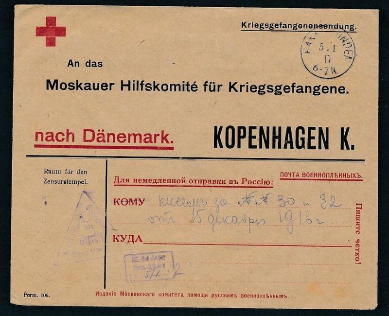 Kriegsgefangenen Sendung -Rot Kreuz (zz8114 ) siehe scan !