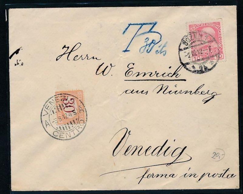 österreich Brief Nach Italien Nachporto Zz9484 Siehe Scan Nr