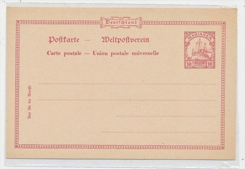 Marianen - Ganzsache      (be4955  ) siehe scan