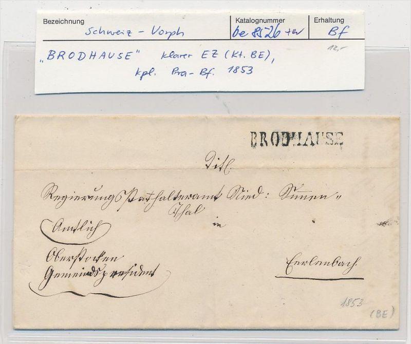 Schweiz -Altbrief -  Brodhause (be8526 ) siehe scan