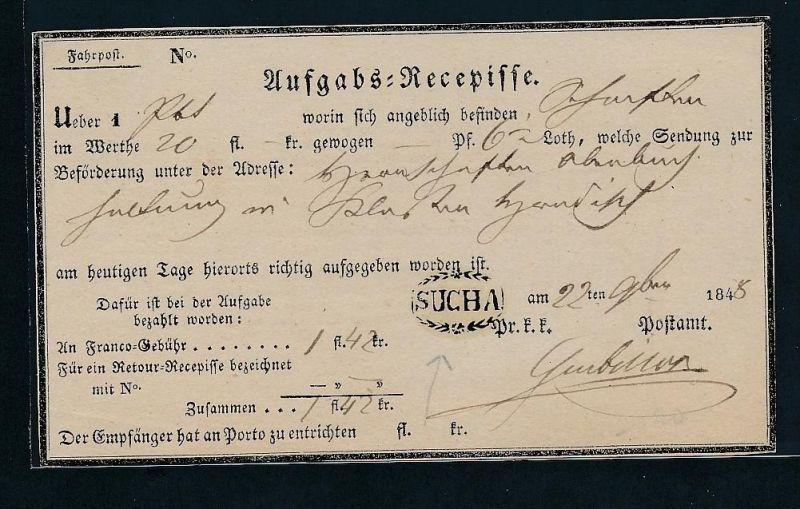 Österreich -uralter Postschein    (g8292  ) siehe Bild !