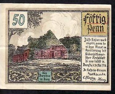 Notgeld  Schein   Burg     (ba3325 ) siehe scan
