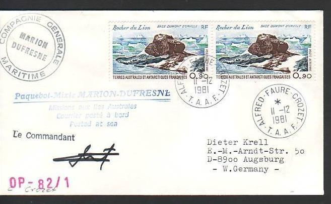 Polarpost -Sammler -Beleg  (ba 2362 ) siehe Bild  !