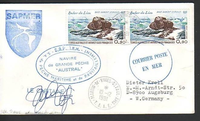 Polarpost -Sammler -Beleg  (ba 2361 ) siehe Bild  !