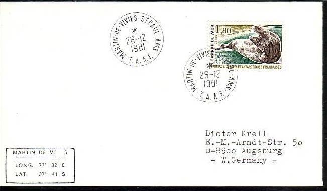 Polarpost -Sammler -Beleg  (ba 2417 ) siehe Bild  !