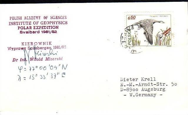Polarpost -Sammler -Beleg  (ba 2382  ) siehe Bild  !