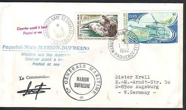 Polarpost -Sammler -Beleg  (ba 2384  ) siehe Bild  !