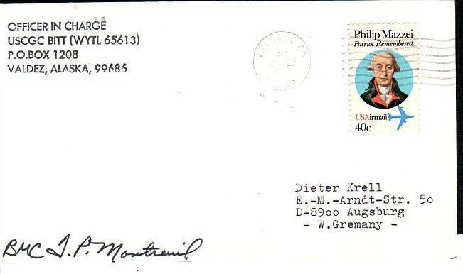Polarpost -Sammler -Beleg  (ba 2391  ) siehe Bild  !