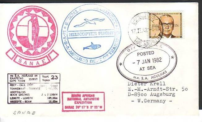 Polarpost -Sammler -Beleg  (ba 2467  ) siehe Bild  !