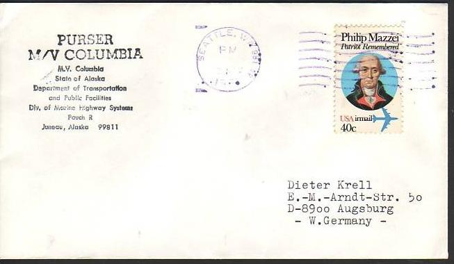 Polarpost -Sammler -Beleg  (ba 2471  ) siehe Bild  !