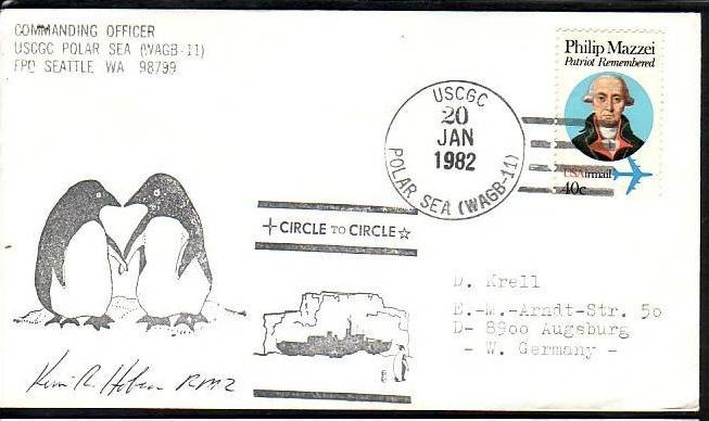 Polarpost -Sammler -Beleg  (ba 2472  ) siehe Bild  !