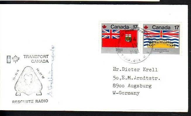 Polarpost -Sammler -Beleg  (ba 2478  ) siehe Bild  !