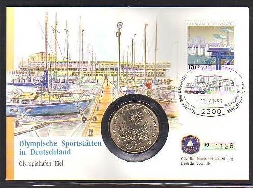 BRD  Numisbrief  Olympia mit 10 Mark Silber   (dc8886 ) siehe scan