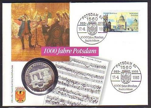 BRD  Numisbrief  1000 J.Potsdam mit 10 Mark Silber   (dc8880 ) siehe scan