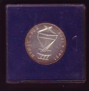 DDR Münze  20 Mark E. Abbe  -silber   bankfrisch  (x415 ) siehe scan