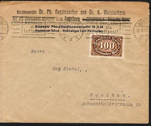 D.-Reich   Infla Brief  (dc 7167 )siehe scan