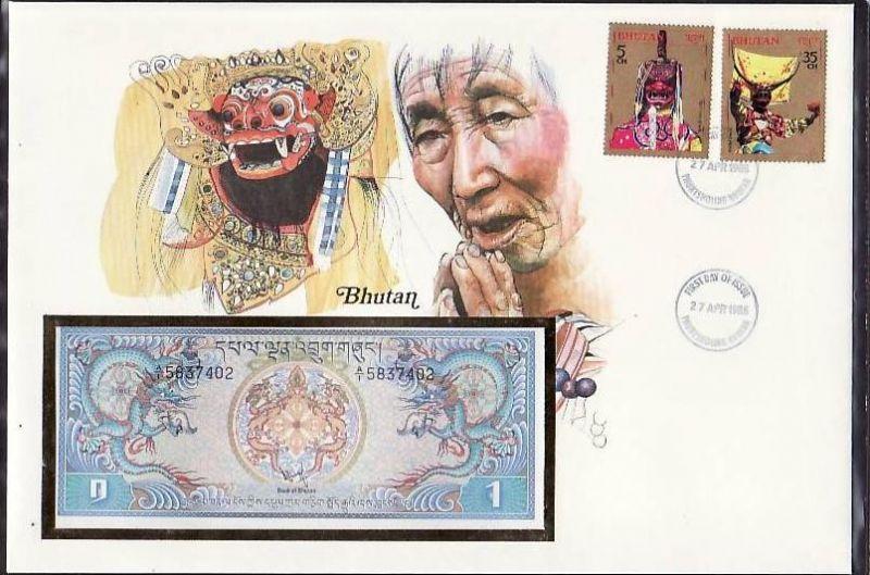 Banknoten Brief -Bhutan   (bg1043 ) siehe scan