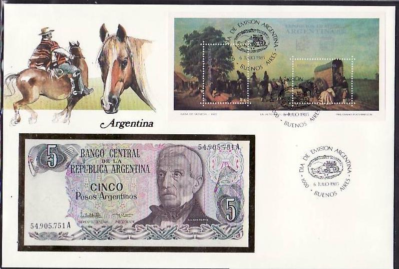 Banknoten Brief -ARGENTINIEN  (bg1034 ) siehe scan