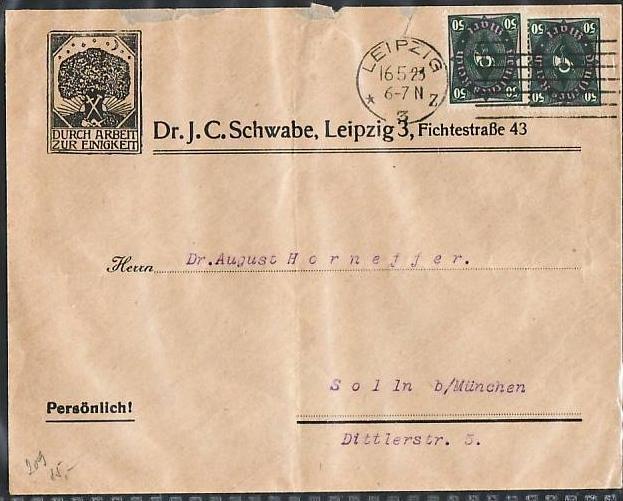 D-Reich Inflafa Bedarfsbrief MEF.   ( z9445 ) siehe scan