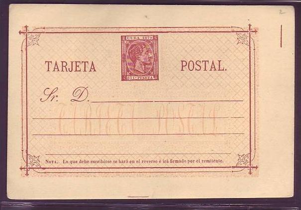 Kuba    uralte Ganzsache  (da1858 ) siehe scan