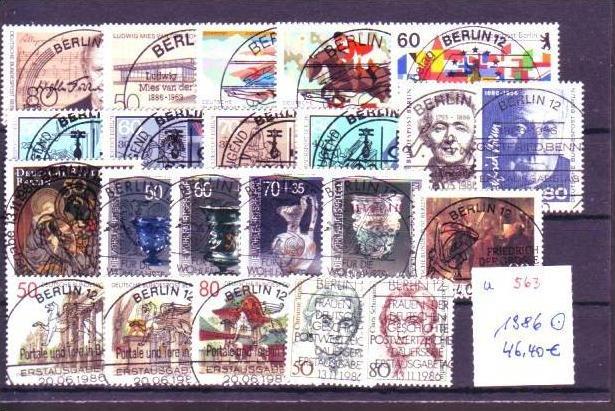 Berlin  Jahr 1986 o  (u563  ) siehe scan